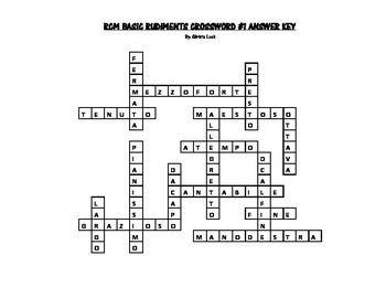 RCM Basic Rudiments Crossword #1