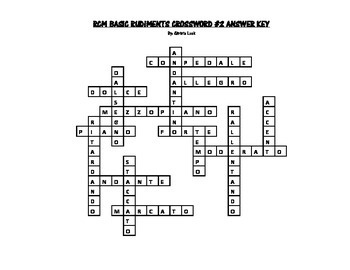 RCM Basic Rudiments Crossword #2