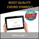 RCM Level 7 Root Quality Chord Symbols