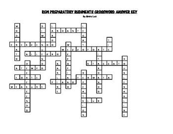 RCM Preparatory Rudiments Crossword