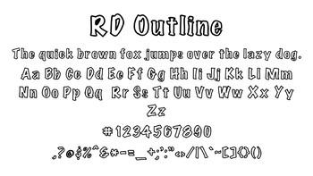 RD Outline Font