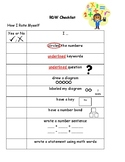 RDW Checklist/Anchor Chart for Word Problems
