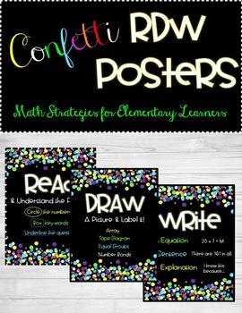 RDW Math Problem Solving Posters - Eureka/Engage NY