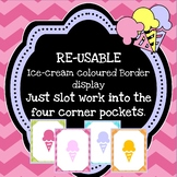 RE-USABLE border display (Ice cream chevron)
