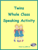 RE Verbs in French Verbes RE Present tense Jumeaux Speaking Activity