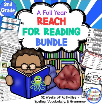 REACH by Nat'l Geo Full Year Spelling Lists, Vocab, Word W