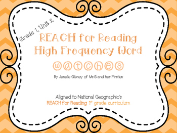 REACH for Reading 1st Grade High Frequency Word Bracelets Unit 2