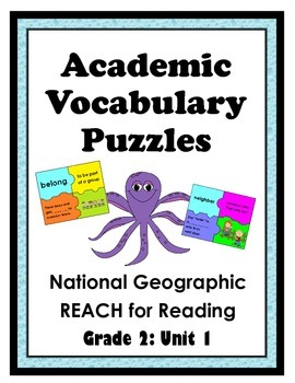 National Geographic Reach for Reading Academic Vocab Puzzles: Grade 2 - Unit 1