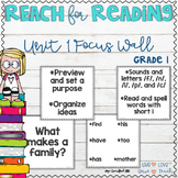 REACH for Reading First Grade Focus Wall - Unit 1