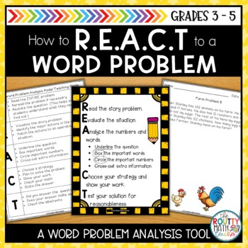 REACT: A Word Problem Analysis Model