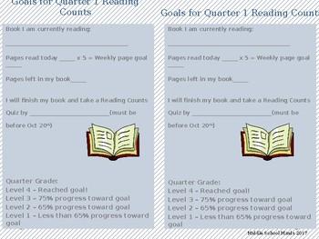 READ 180 - Reading Counts Goals