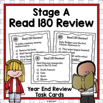 READ 180  Stage A Task Cards!