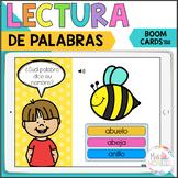READ A WORD BOOM CARDS, LECTURA DE PALABRAS DE TRES SILABAS