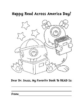 Read Across America Activities Bundle 3 Pages Read Across America Coloring