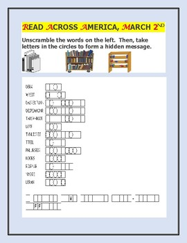 READ ACROSS AMERICA DAY: A WORD JUMBLE ACTIVITY