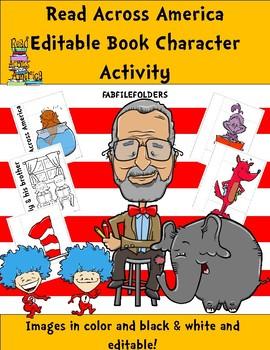 READ ACROSS AMERICA EDITABLE BOOK CHARACTER ACTIVITY English/Spanish