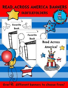 READ ACROSS AMERICA PENNANT BANNERS