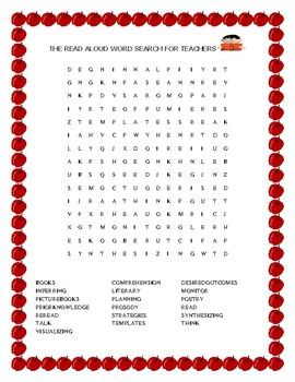 READ ALOUD WORD SEARCH FOR TEACHERS