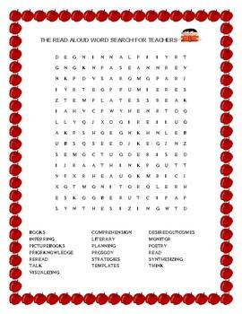 READ ALOUD WORD SEARCH FOR TEACHERS