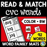 READ AND MATCH CVC WORD WITH PICTURES WORD WORK ACTIVITY KINDERGARTEN PHONICS