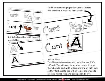 READ AND PEEK LETTER PANELS