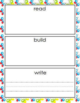 READ BUILD WRITE- Bugs and Insects (with mat and letter tiles)