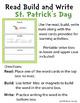 READ BUILD WRITE - St. Patrick's Day theme