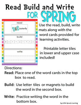 READ BUILD WRITE for SPRING (Spring theme)