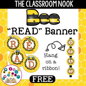 "Bee Theme: ""READ"" Banner"