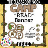 """Camping Theme: """"READ"""" Banner"""