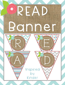 READ Banner-Aqua, Gray and Red