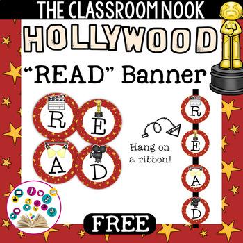 "Hollywood Theme: ""READ"" Banner"