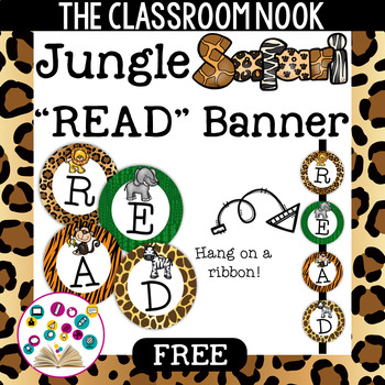"Jungle Safari Theme: ""READ"" Banner"