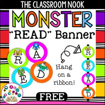 """Monster Theme: """"READ"""" Banner"""