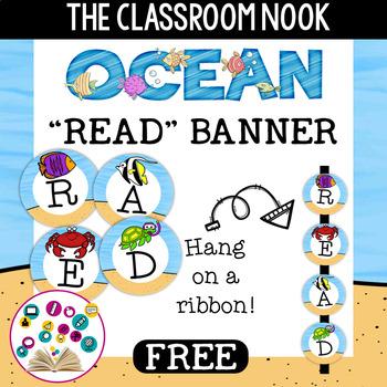 "Ocean Theme: ""READ"" Banner"
