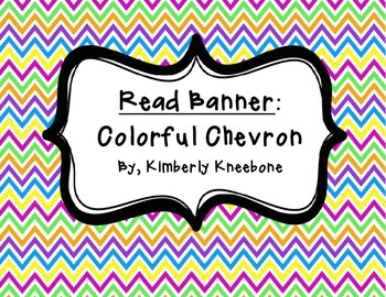 READ Banner Pennant - Colorful Chevron