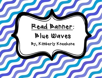 READ Banner Pennant - Blue Waves