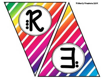 READ Banner Pennant - Colorful Diagonal Stripes
