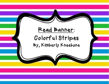 READ Banner Pennant - Colorful Stripes