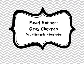 READ Banner Pennant - Gray Chevron