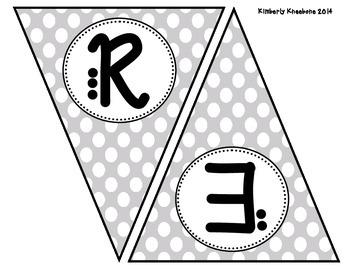 READ Banner Pennant - Gray Polka Dot