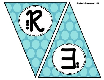 READ Banner Pennant - Large Blue Polka Dot