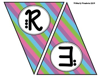 READ Banner Pennant - Pretty Diagonal Stripes