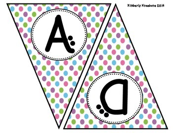 READ Banner Pennant - Pretty Polka Dots