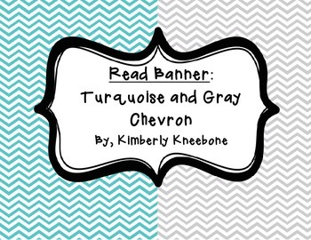 READ Banner Pennant - Turquoise and Gray Chevron