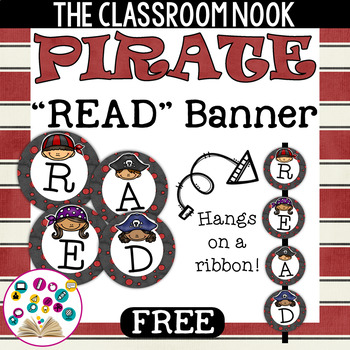 "Pirate Theme: ""READ"" Banner (Free)"