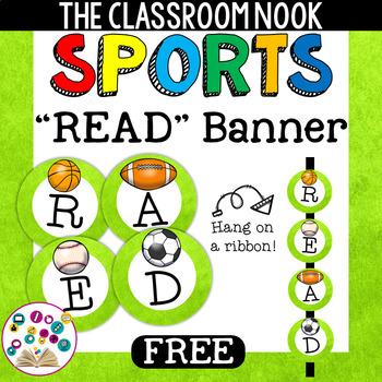 "Sports Theme: ""READ"" Banner"