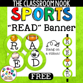 "Sports Theme: ""READ"" Banner"