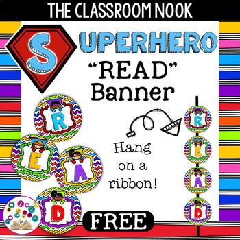"Superhero Theme: ""READ"" Banner"