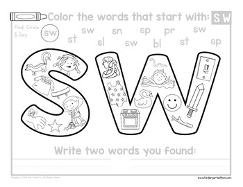 READ: Blends and Digraphs Color and Write